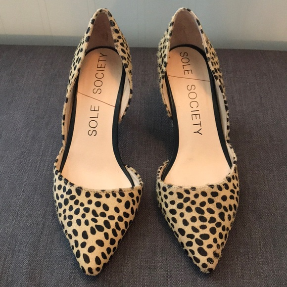 Sole Society Shoes | Leopard Heels